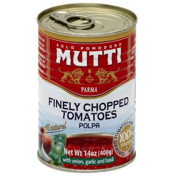 Mutti Finely Chopped Tomatoes with Onion Garlic & Basil, 14 oz, (Pack of 12)