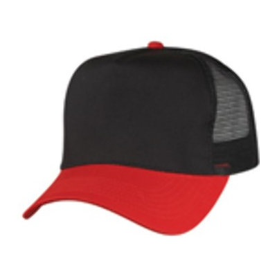 Ddi Cotton Twill Mesh Cap -Red/Black (Pack Of 144)