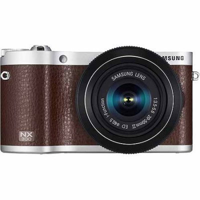 Samsung NX300 20.3 Megapixel Mirrorless Camera (Body with Lens Kit) - 45mm - Brown