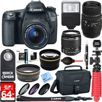 Canon EOS 70D CMOS DSLR Camera 18-55mm & 70-300mm Dual Lens Bundle & Accessory Kitt