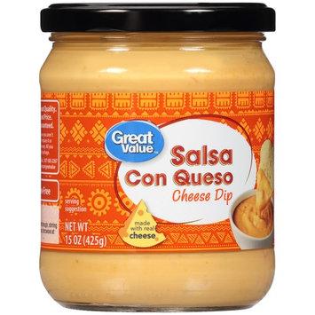 Great Value Salsa Con Queso Cheese Dip, 15 oz