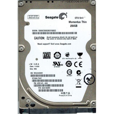 Seagate Momentus ST250LT007 250GB Internal Hard Drive