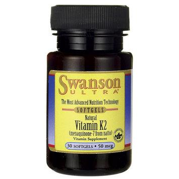 Swanson Vitamin K-2 - Natural 50 mcg 30 Sgels