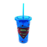 Silver Buffalo, Llc Superman Logo With Strip Cold Cup