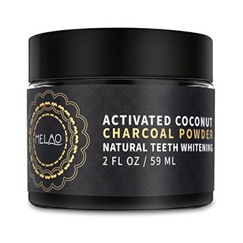 Melao Natural Teeth Whitening Charcoal Powder Made with Organic Coconut Activated Charcoal for Stronger Healthy Whiter Teeth