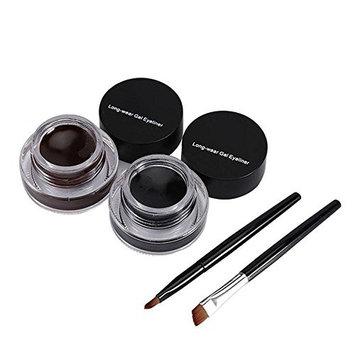 FTXJ 2 in 1 3g Brown & Black Eyeliner Gel waterproof Eye Makeup with Brush