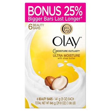 Olay Ultra Moisture Beauty Bars with Shea Butter 6 ct - 5 oz (4 oz bar with bonus - 25% more free)
