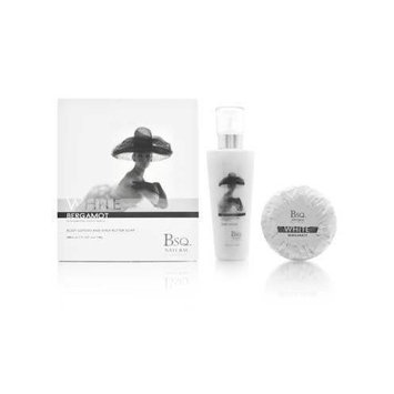 Bsq. Natural Couture White Bergamot 2 Piece Set Includes: 6.7 oz Body Lotion + 150g Shea Butter Soap