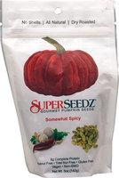 SuperSeedz Gourmet Pumpkin Seeds Somewhat Spicy - 5 oz pack of 6