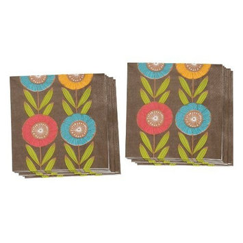 Now Designs Paper Lunch Napkin, Posy, Set of 2 [Posy]