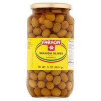 Faraon Foods Faraon Plain Manzanilla Spanish Olives, 21 oz