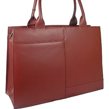 beautiful ladies large Visconti dark red leather laptop briefcase work bag organiser style 19147