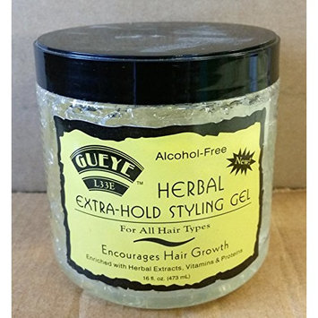 Gueye L33E Herbal Extra-Hold Styling Gel 16oz (Alcohol-Free)