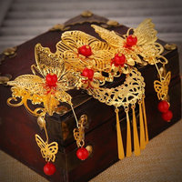 2017 Tassel Bride Hair Comb Wedding Jewelry for Women Chinese Style Cheongsam Dress Accessories