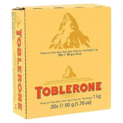 Toblerone Swiss Milk Chocolate Candy Bar 1.76 oz 20 ct
