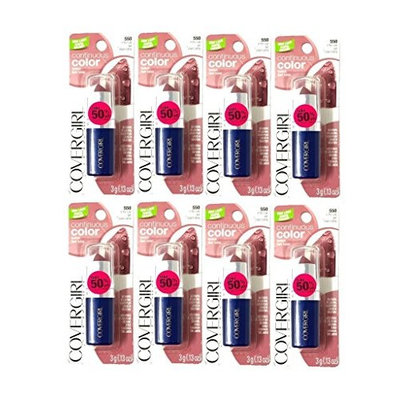 8x CoverGirl In the Nude 550 Lipstick Continuous Color -022700472413