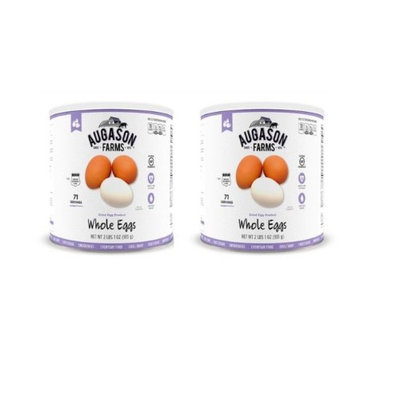 Augason Farms Dried Whole Eggs Mix 2 Cans Combo (Pack of 2)