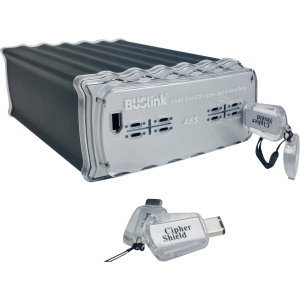 BUSlink 12TB Cipher Shield Hardware Encrypted BILATERAL 512Bit Dual Key External Hard Drive HEC0GTODQ-1610