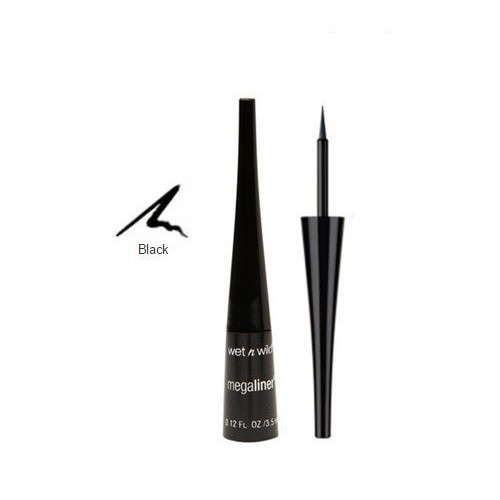 Wet & Wild Megaliner Liquid Eyeliner 871a Black, 0.12 Ounce