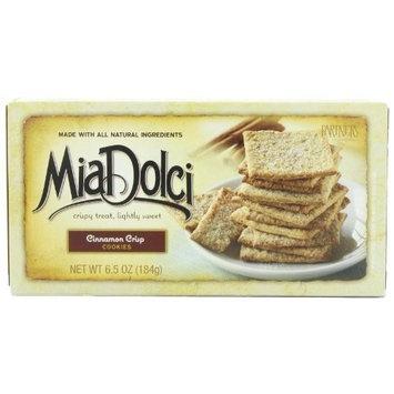 Mia Dolci Cookies Cinnamon Crisp, 6.5-Ounce (Pack of 4)