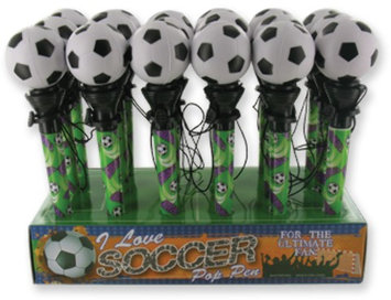 D.M. Merchandising 1949200 Soccer Pop Pen - Case of 64