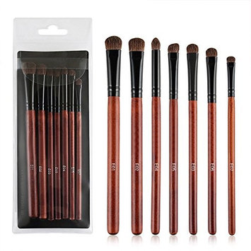 Makeup Brush Set,7 Pcs Horse Hair Smoked Makeup Eye Shadow Eyeliner brush Brushes Set