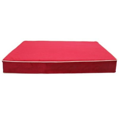 Spoiled Rotten Classic Collection 80529 Pet Mattress, Raspberry/Buckwheat Velvet, Large