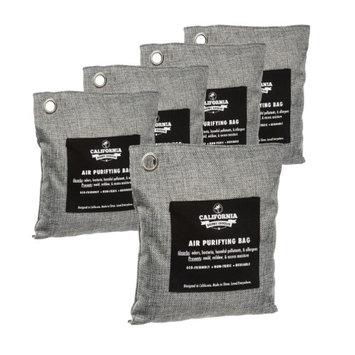 California Home Goods 5pk Natural Air Purifying Bag Bamboo Charcoal bag for Odor Removal 200g