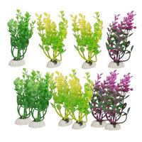 10 Pcs Ceramic Base Simulated Multicolor Plastic Plant 5.9