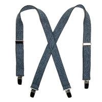 CTM Infants Elastic 1 Inch Wide Clip-End Dark Denim Suspenders
