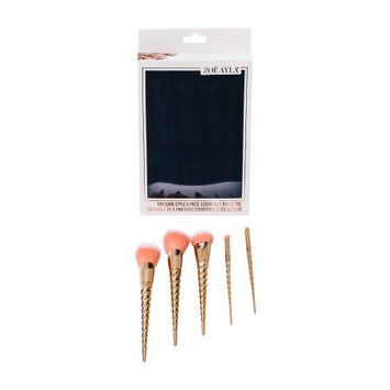 Zoe Ayla Unicorn Style 5 Piece Essentials Brush Set - Rosegold