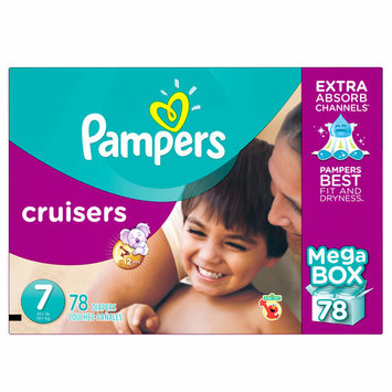 Pampers Cruisers - Size 7, Seventy eight pieces - Branded Diapers at a wholesale price - Soft & Comfortable for babies
