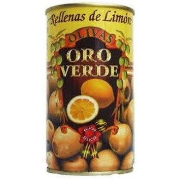 Oro Verde Olives Stuffed with Lemon - Aceitunas Rellenas de Limon 350g