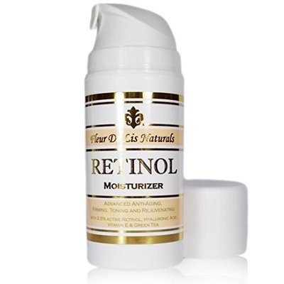 Retinol Cream - Anti-Wrinkle Cream with 2.5% Active Retinol and Hyaluronic Acid - Complite Anti- Aging Treatment for Face and Neck, 3.38 oz