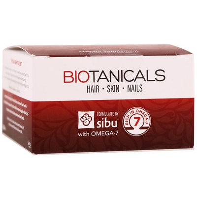 Sibu Beauty, Biotanicals, Hair, Skin, Nails with Omega-7, 60 Vegetarian Softgels