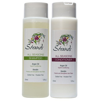 Strands All Seasons Shampoo 12oz & Concentrated Conditioner / Mask 12oz