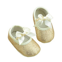 Koly Newborn Baby Anti-slip Soft Bottom Prewalker Shoes Glitter Party First Walking Shoes
