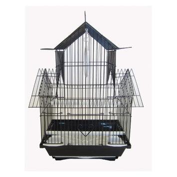 Yml Group YML Pagoda Flat Bird Cage Black