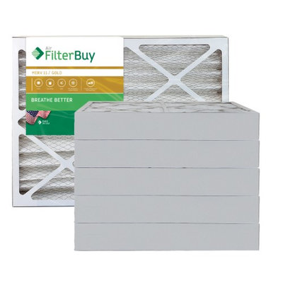 AFB Gold MERV 11 28x30x4 Pleated AC Furnace Air Filter. Filters. 100% produced in the USA. (Pack of 6)