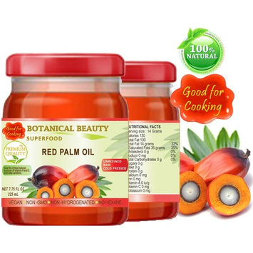 RED PALM OIL. 100% Pure / UNREFINED / EXTRA VIRGIN / Undiluted Cold Pressed. SUPER FOOD. 7.75 Fl.oz – 225 ml.