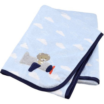 Triboro Quiilt Manufacturing Corporation Child of Mine by Carter's Transportation 2-Ply Embroidered Print Valboa Blanket