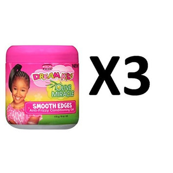 [ PACK OF 3] AFRICAN PRIDE DREAM KID OLIVE MIRACLE SMOOTH EDGES 6 OUNCE: Beauty