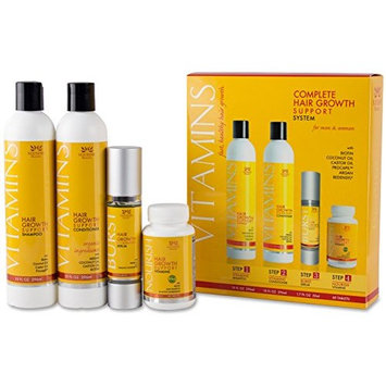 Vitamins Hair Growth Treatment Products - Hair Loss Treatment System to Stop Thinning Hair and Promote Regrowth – Includes Shampoo, Conditioner, Vitamins and Hair Growth Accelerating Serum