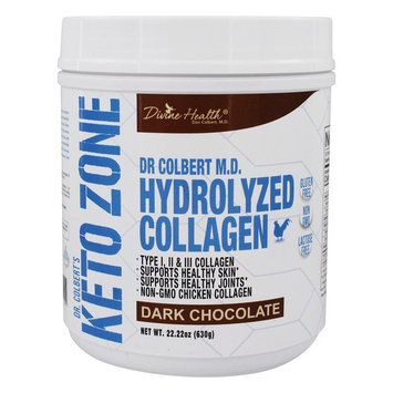 Dr. Colbert's Keto Zone Hydrolyzed Collagen Powder Dark Chocolate - 22.22 oz.
