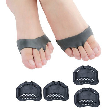 Povihome Gel Foot Pads, Metatarsal Pads, Breathable Foot Cushion, for Diabetic Feet, Callus, Blisters, Forefoot Pain - 2 Pairs