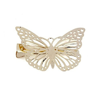 Hair Clip, Bigban 1 Pair Hot Special Shiny Golden Butterfly Hair Clip Headband Hair Accessories Headpiece