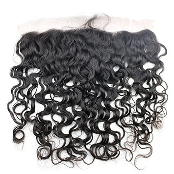 Brazilian Wet And Wavy Lace Frontal Closure 13X4 with Baby Hair Natural Water Wave Unprocessed