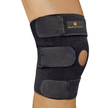 NeoProMedical Knee Support - Neoprene Breathable Knee Brace ? Large Size, Black Color