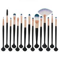 Makeup Brush Set, Iuhan 15 Pieces Professional Eye Makeup Cosmetics Brush Set Premium Synthetic Kabuki Foundation Blending Blush Concealer Eye Face Liquid Powder Cream Cosmetics Brushes Kit