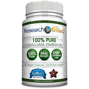 Research Verified Caralluma Fimbriata - One Month Supply - 100% Pure Natural Caralluma Fimbriata - 1600mg/day - 365 Day 100% Money Back Guarantee - Try Risk Free for Fast and Easy Weight Loss [1]